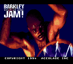 Barkley Shut Up and Jam! (USA) Title Screen