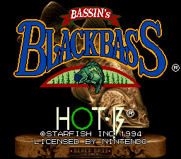 Bassin's Black Bass (USA) Title Screen