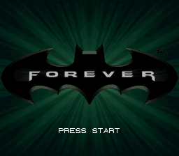 Batman Forever (Europe) Title Screen