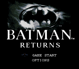 Batman Returns (Europe) Title Screen