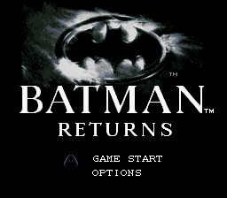 Batman Returns (Japan) Title Screen