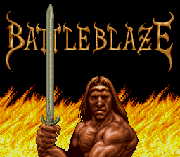 Battle Blaze (Japan) Title Screen