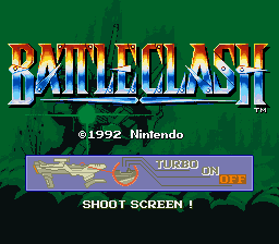 Battle Clash (USA) Title Screen