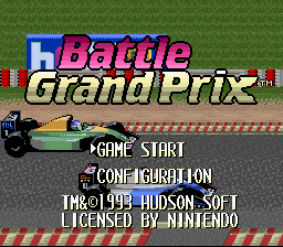 Battle Grand Prix (USA) Title Screen