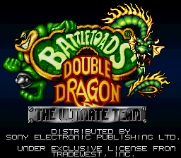 Battletoads & Double Dragon - The Ultimate Team (Europe) Title Screen
