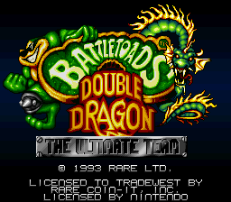 Battletoads & Double Dragon - The Ultimate Team (USA) Title Screen