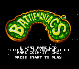 Battletoads in Battlemaniacs (USA) Title Screen