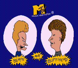 Beavis and Butt-Head (USA) Title Screen