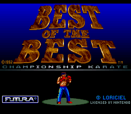 Best of the Best - Championship Karate (Europe) (Beta) Title Screen