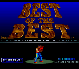 Best of the Best - Championship Karate (Europe) Title Screen
