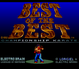 Best of the Best - Championship Karate (USA) Title Screen
