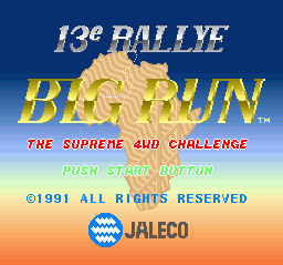 Big Run - The Supreme 4WD Challenge (Japan) Title Screen
