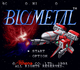 Bio Metal (Japan) Title Screen