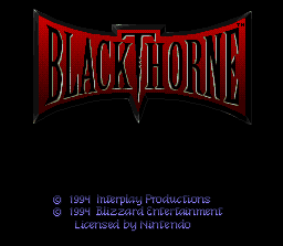 Blackthorne (USA) (Sample) Title Screen