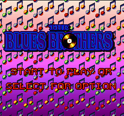 Blues Brothers, The (Europe) Title Screen