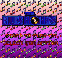 Blues Brothers, The (Japan) Title Screen