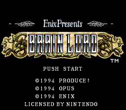 Brain Lord (USA) Title Screen