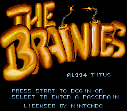 Brainies, The (Europe) Title Screen