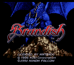 Brandish (USA) Title Screen