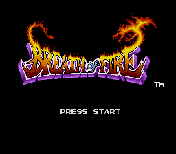 Breath of Fire (USA) Title Screen
