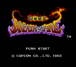 Breath of Fire - Ryuu no Senshi (Japan) Title Screen