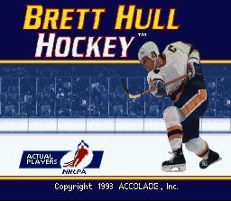 Brett Hull Hockey (USA) Title Screen