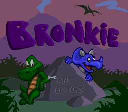 Bronkie the Bronchiasaurus (USA) (En,Es) Title Screen