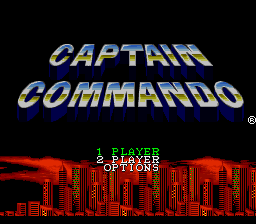 Captain Commando (USA) Title Screen