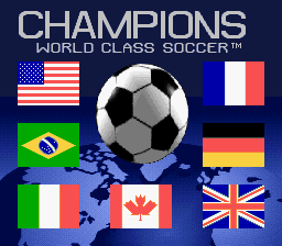 Champions World Class Soccer (Europe) (En,Fr,De,Es) Title Screen