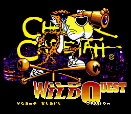 Chester Cheetah - Wild Wild Quest (USA) (Beta) Title Screen