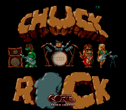 Chuck Rock (Europe) Title Screen