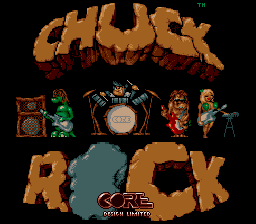 Chuck Rock (USA) (Beta) Title Screen