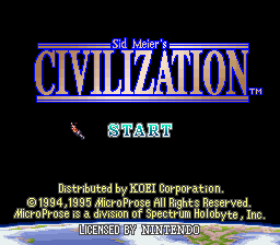 Civilization (USA) Title Screen