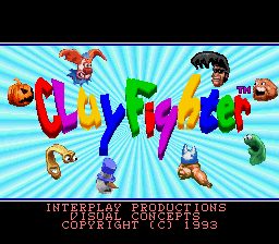 Clay Fighter (Europe) Title Screen