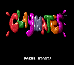 Claymates (Europe) Title Screen