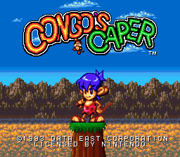 Congo's Caper (Europe) Title Screen