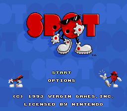 Cool Spot (Europe) Title Screen