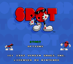 Cool Spot (USA) (Beta) Title Screen
