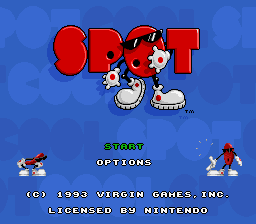 Cool Spot (USA) Title Screen