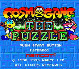 Cosmo Gang - The Puzzle (Japan) Title Screen
