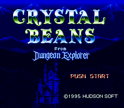 Crystal Beans From Dungeon Explorer (Japan) Title Screen