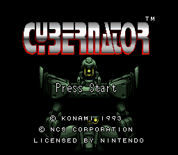 Cybernator (USA) (With Sound Test) Title Screen