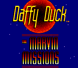 Daffy Duck - The Marvin Missions (Europe) Title Screen