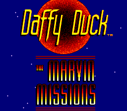 Daffy Duck - The Marvin Missions (USA) Title Screen