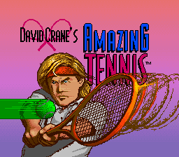 David Crane's Amazing Tennis (Europe) Title Screen