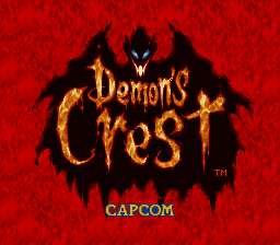 Demon's Crest (Europe) Title Screen