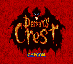 Demon's Crest (USA) Title Screen