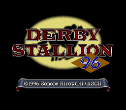 Derby Stallion '96 (Japan) Title Screen