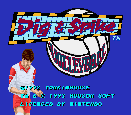 Dig & Spike Volleyball (USA) Title Screen