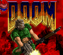 Doom (Japan) Title Screen